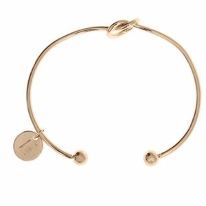 Jewelry - Letter E Initial Love Knot Bangle Cuff Bracelet